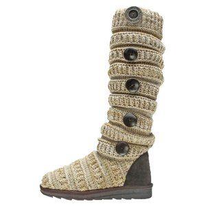 Muk Luks Miranda Knit Button Winter Boots